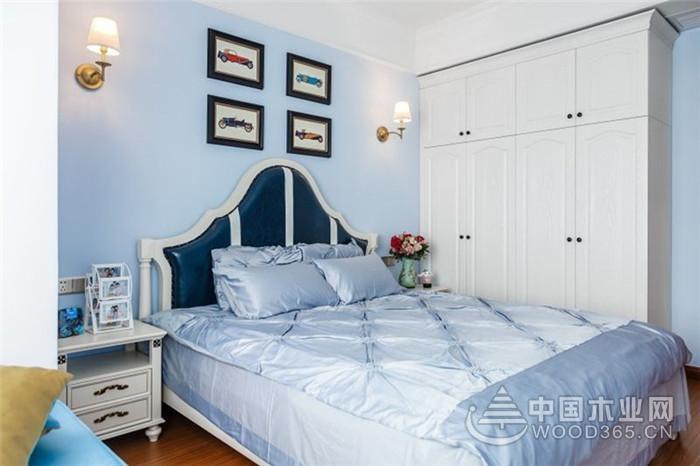 美式小清新风格,100平米两房一厅装修效果图
