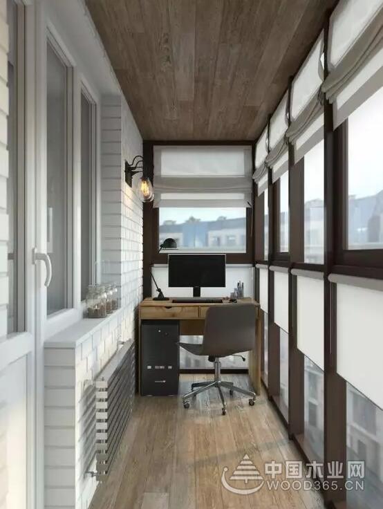 12款封闭式阳台装修效果图,实用与美观兼具