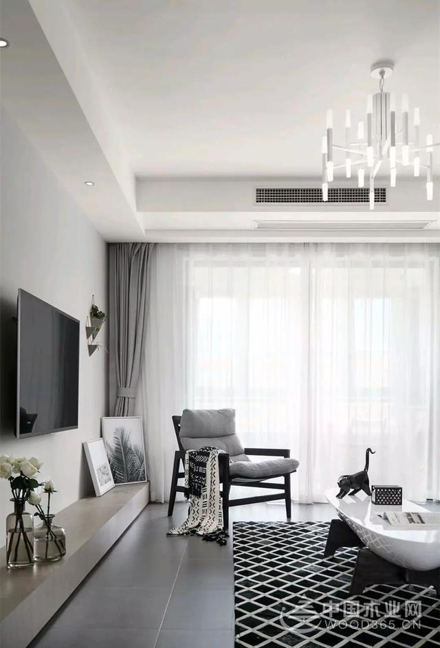 现代简约装修,140平米三室两厅两卫装修效果图