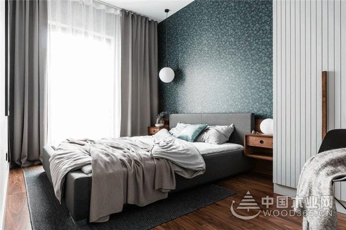 灰蓝色的现代空间,60平米一居室小户型装修效果图