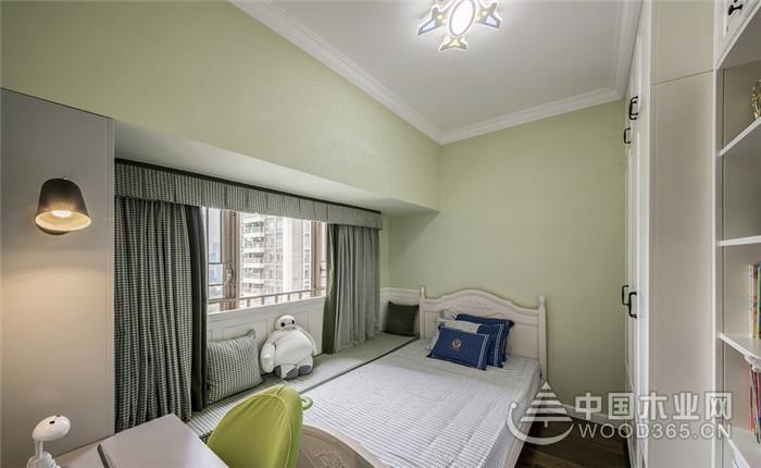 色调清冷宁静,100平米北欧素色风格两房一厅装修效果图