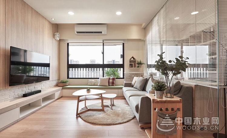 原木清新味,80平米台式风格三室两厅装修效果图