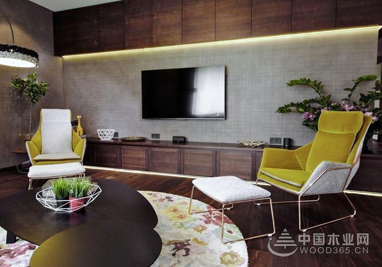 接近自然之选,200平米现代风格复式公寓装修效果图