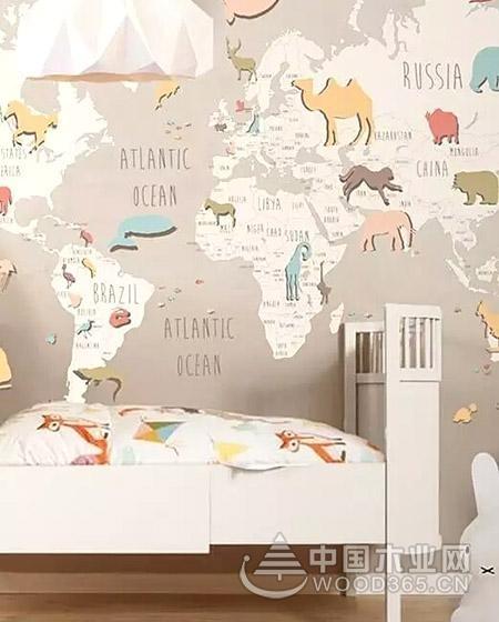 把世界带回家,10款创意地图元素背景墙装修效果图