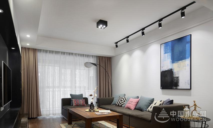 简约北欧风格,120平米三室两厅装修效果图