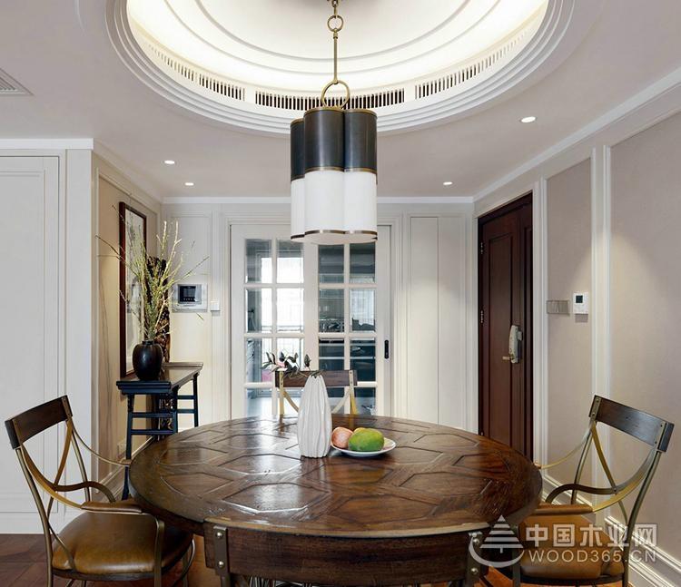浪漫与古典巧妙融合,100平米两房一厅装修效果图
