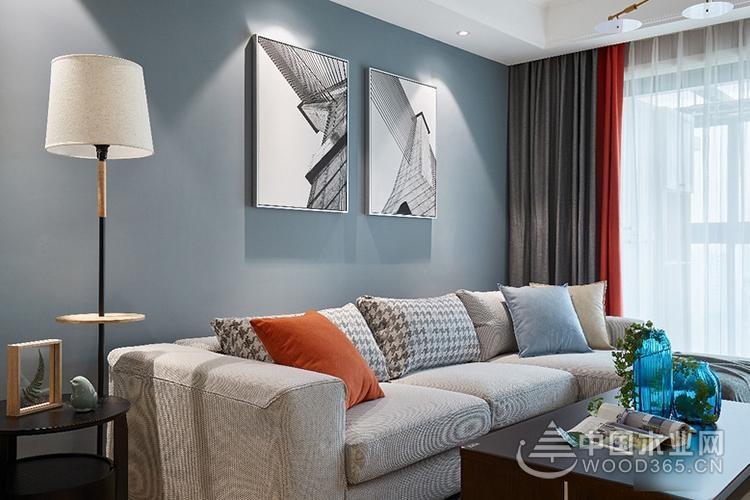 艺术气息十足,80平米两房一厅装修效果图