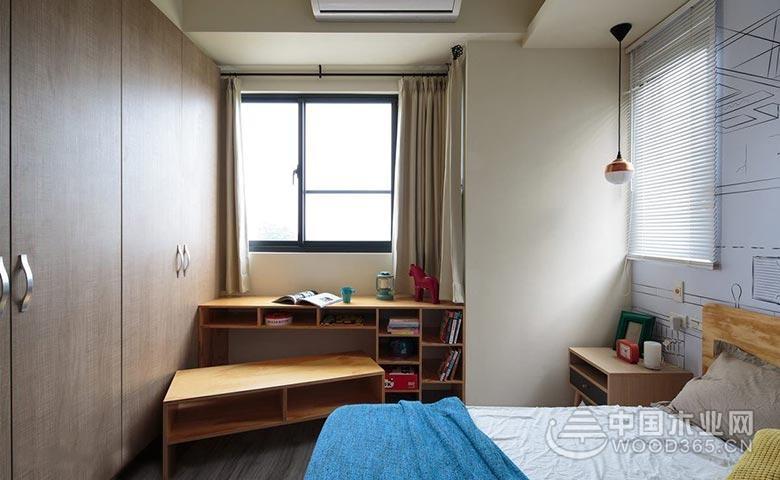 书房和卧室兼备,10款卧室书桌实景图