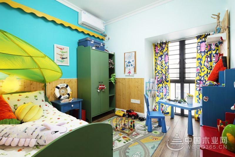 田园风缤纷生活,100平米两房两厅装修效果图
