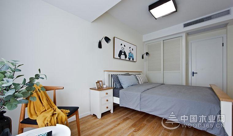 有爱萌物家,89平方北欧家居风格两房一厅装修效果图