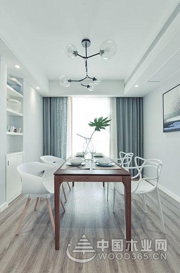 装修中的清流,135平米现代简约两房一厅效果图