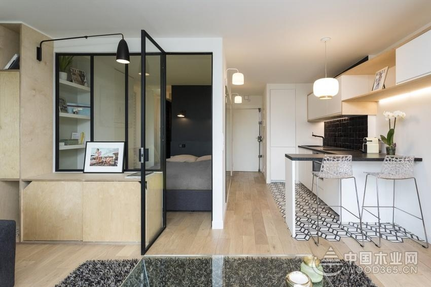 简单又清新,50平米一居室小户型装修图