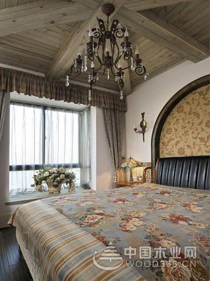 打造别样清凉卧室,13款地中海飘窗窗帘效果图