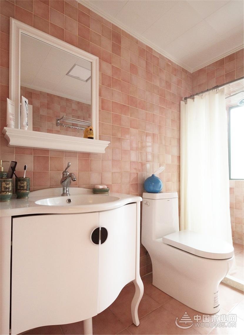 清爽欧式风格,95平米两房一厅装修效果图