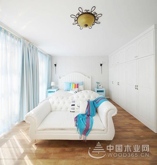 湖水蓝地中海设计风格,200平米复式公寓装修效果图