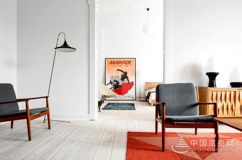 老房翻新复古风,120平米三室两厅装修效果图