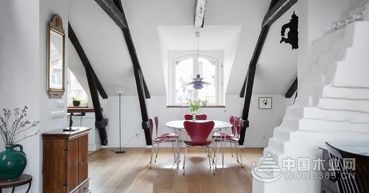 简洁舒适,北欧风格斜顶阁楼装修效果图