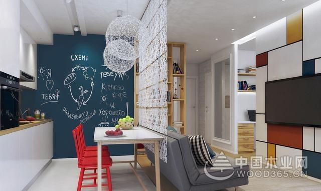 餐厅隔断很好的将餐厅和客厅隔离开,增加空间层次感和梅花空间