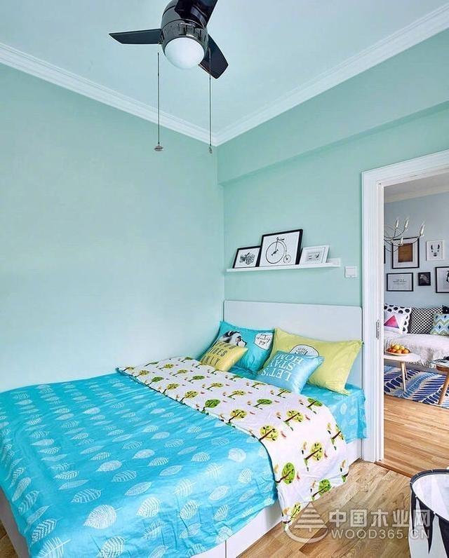 宜家北欧风:淡蓝色调打底,软装舒适点缀,美美的家