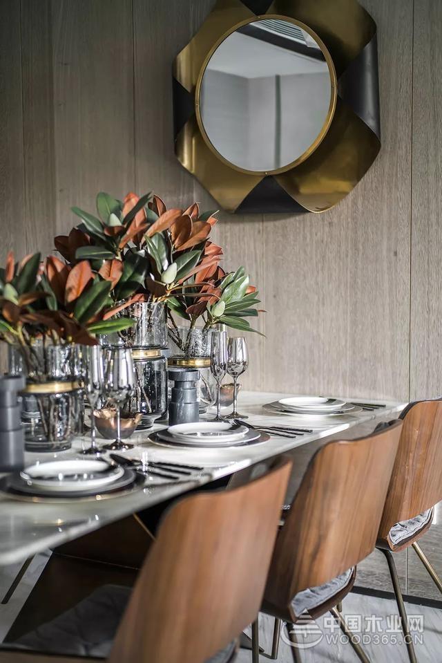 灰度世界一抹绿,92平米现代风格两房一厅装修效果图