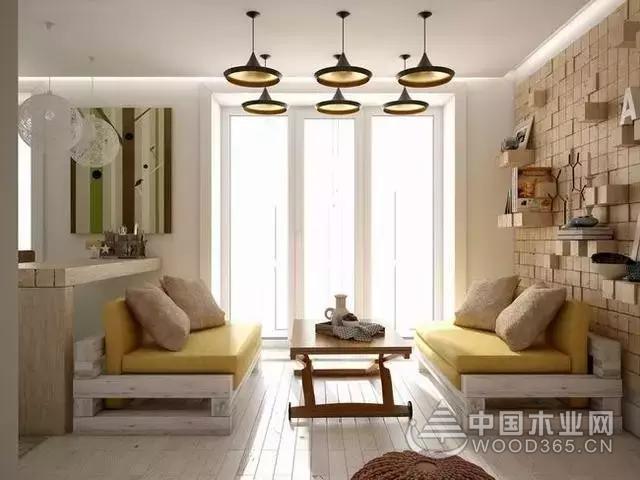 45平的单身公寓装修效果图,背景墙和卧室都超有创意!