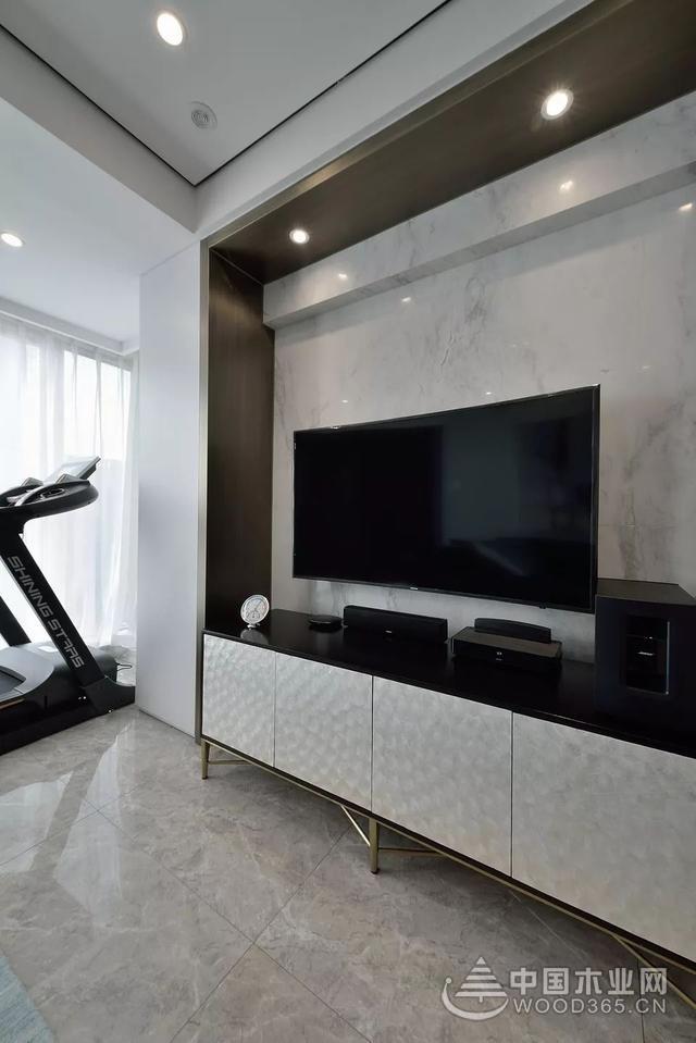 灰白的设计风格,110平米现代简约风格三室一厅装修效果图