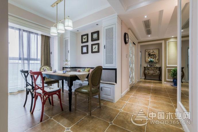 中年人所亲睐美式风格,180平米三室两厅装修效果图