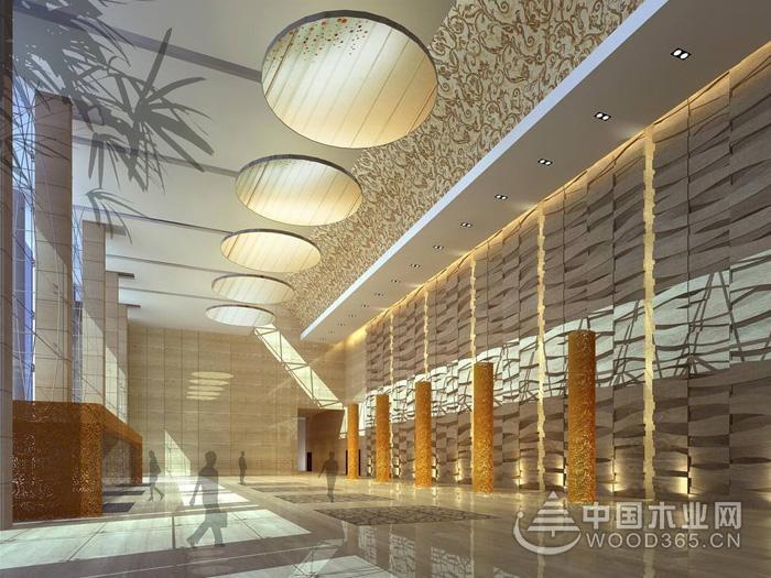 下面来欣赏8款办公楼大厅效果图.