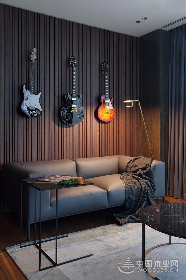 后现代装修风格案例,金属感的雅致与节奏感