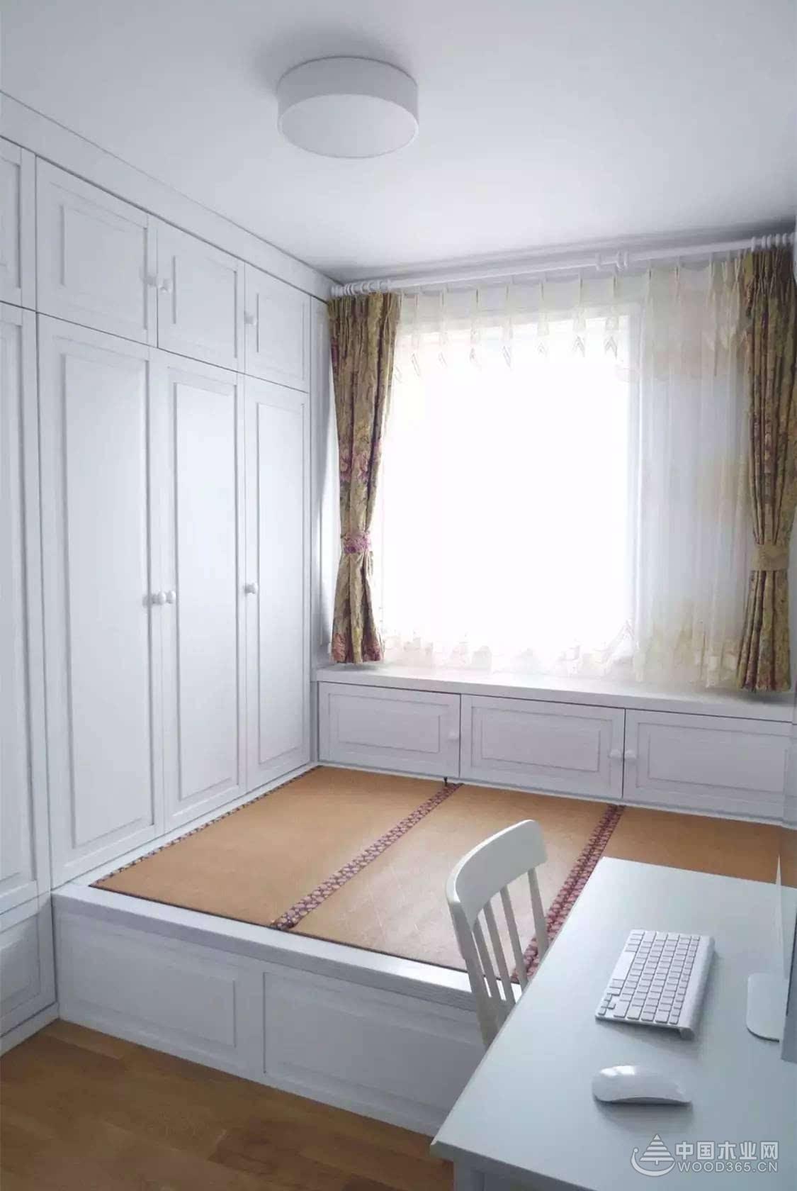 精品柜装修效果图_19个连柜榻榻米设计效果图-中国木业网