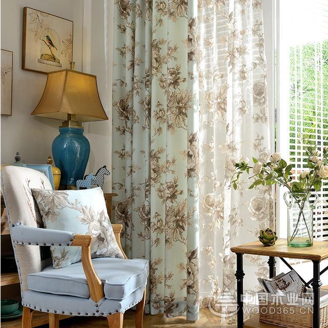 卧室窗帘效果图,让你享受清新淡雅