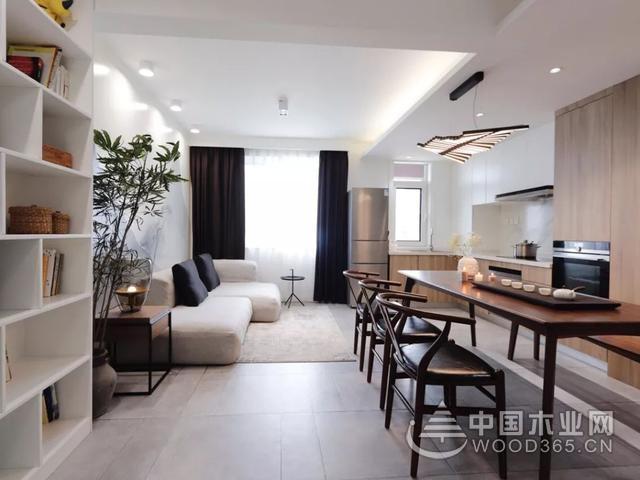 簡單閑適,50平米一居室小戶型裝修圖