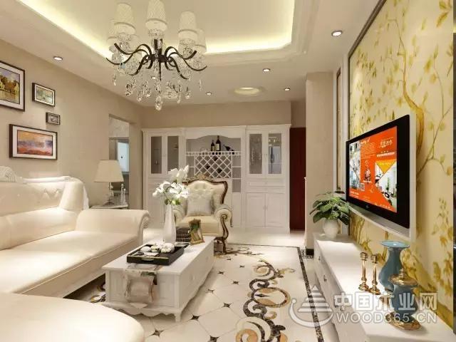 80平米两室简欧客厅装修效果图,客厅餐厅真有档次