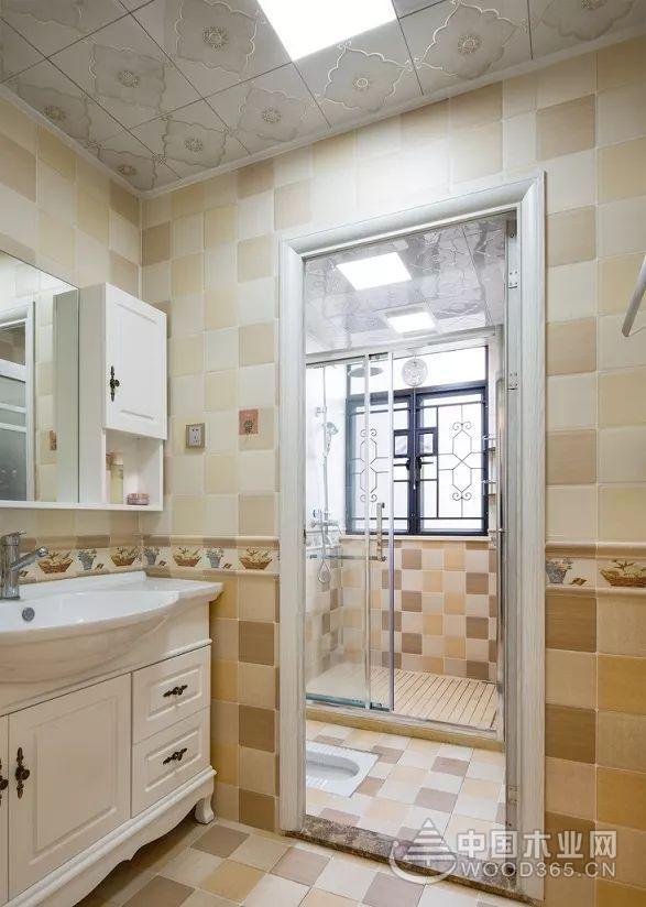 135平米偏欧式三室两厅装修效果图