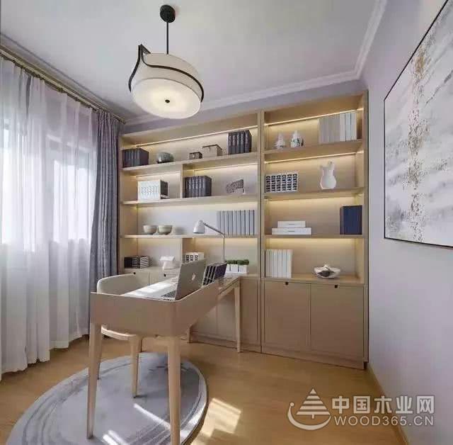 120平米简约中式装修效果图,这样的书房既简单又儒雅!