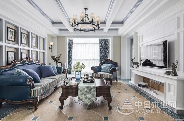 165平方大户型三室两厅装修效果图