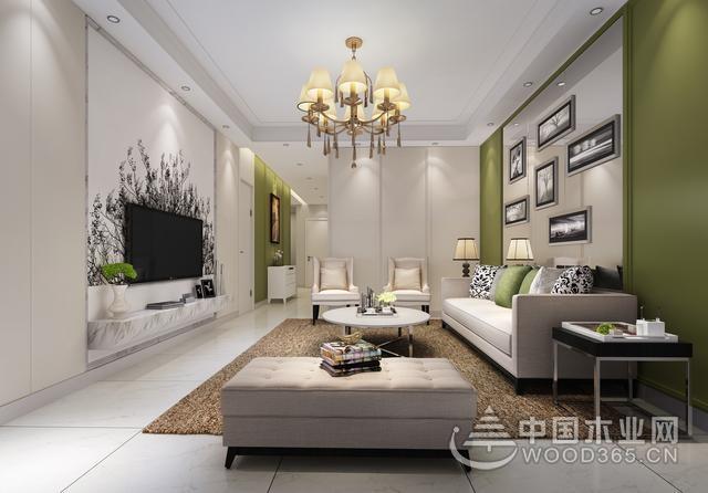 客厅电视背景墙装修设计效果图,简洁而时尚