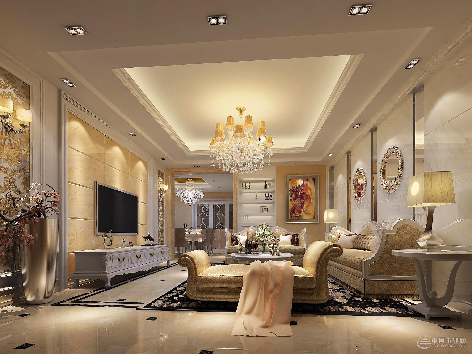 简欧客厅装修效果图,不一样的美