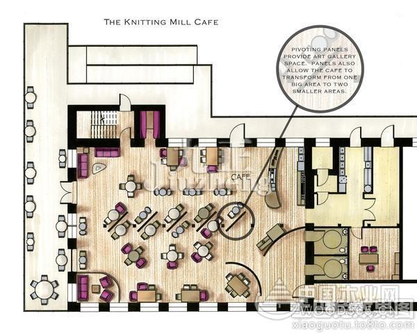 咖啡店设计思路,咖啡厅平面图供参考