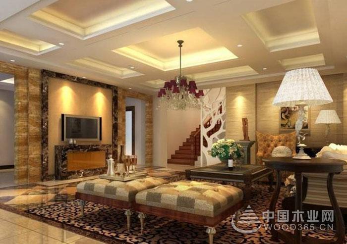 客厅灯池效果图,不一样的客厅空间