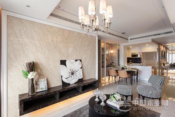 120平米简欧风格三室两厅装修效果图,简约轻快又不失质感雅致