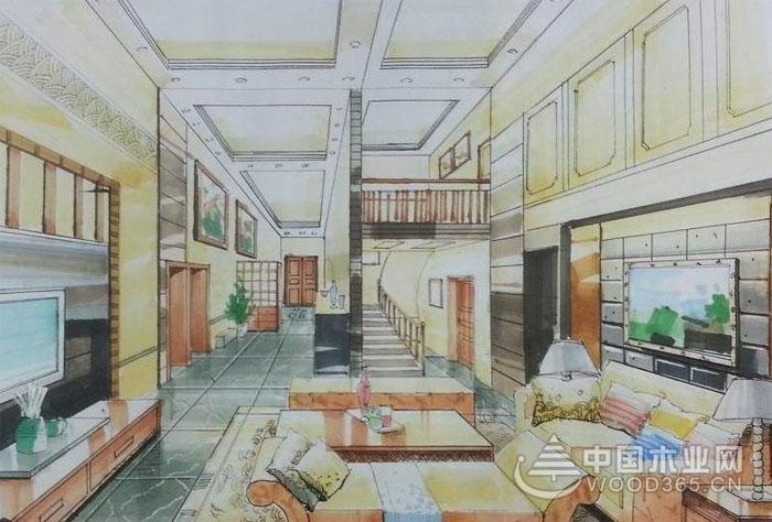 8张室内纯彩铅手绘效果图欣赏,你觉得3d效果图好看还是手绘