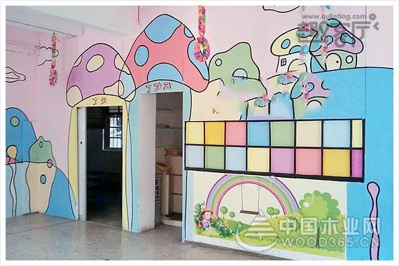 10款创意幼儿园手绘墙画效果图片赏析