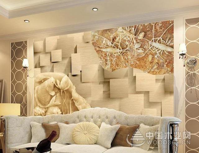 美观性体现着其艺术价值,砂岩背景墙效果图片欣赏