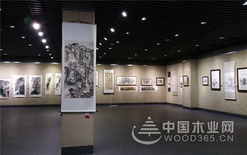 书画展厅设计效果图片欣赏