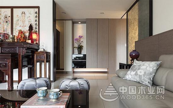 简洁明亮的机能美家 佛龛装修设计很好融入现代家装