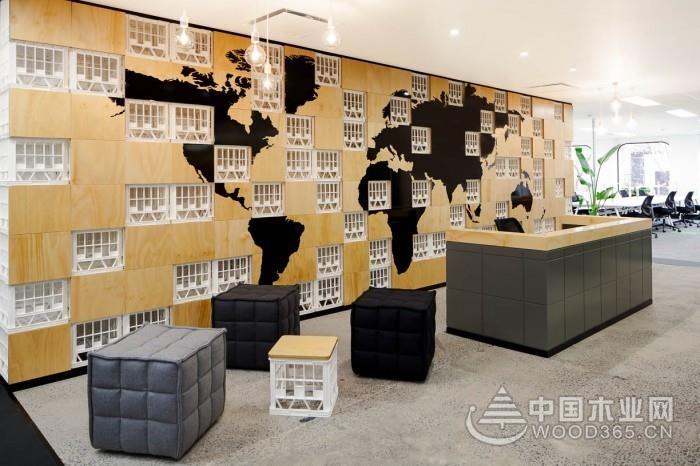 一組現代簡約辦公室設計裝修效果圖
