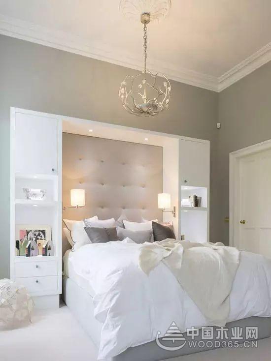 10款卧室床头背景墙装修效果图
