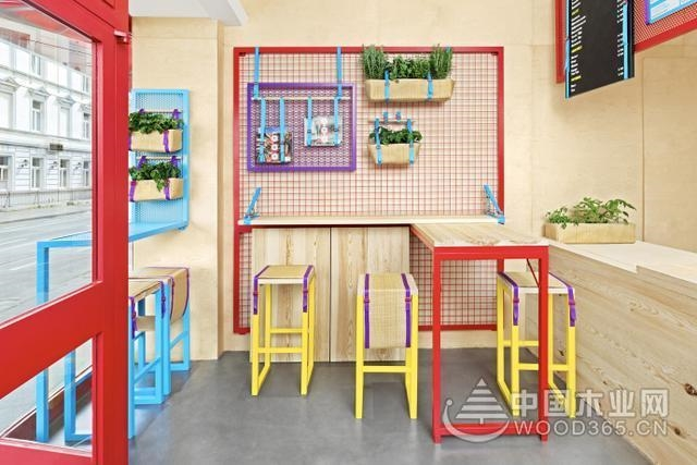 彩色系列甜品店装修效果图