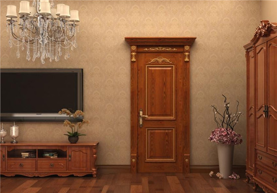 深色木门装修效果图